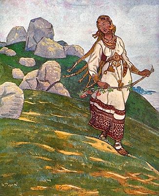 Н.К.Рерих. За морями земли великие. 1910